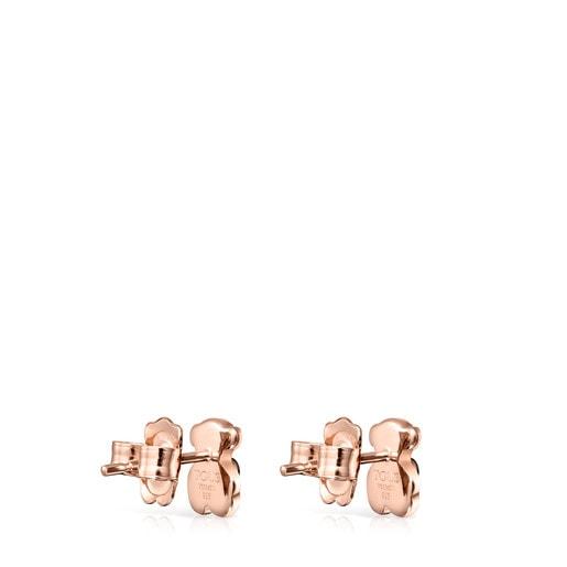Aros Real Sisy de Plata Vermeil rosa con Onix