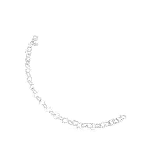 Pulsera de plata motivo 0,8cm. Carrusel