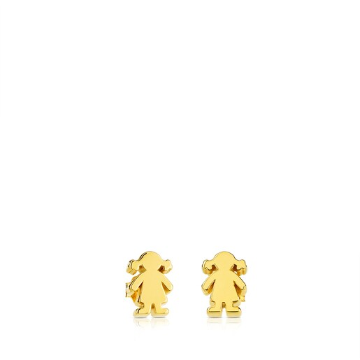 Pendientes TOUS Sweet Dolls de Oro motivo Niña