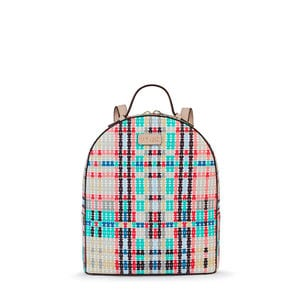 Small pink-multicolored Tartan Bears Backpack