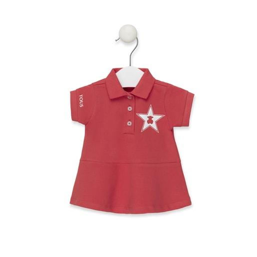 Vestido Polo M/Curta Coral