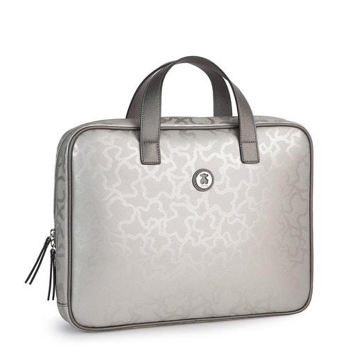 Silver colored Kaos Shiny City bag