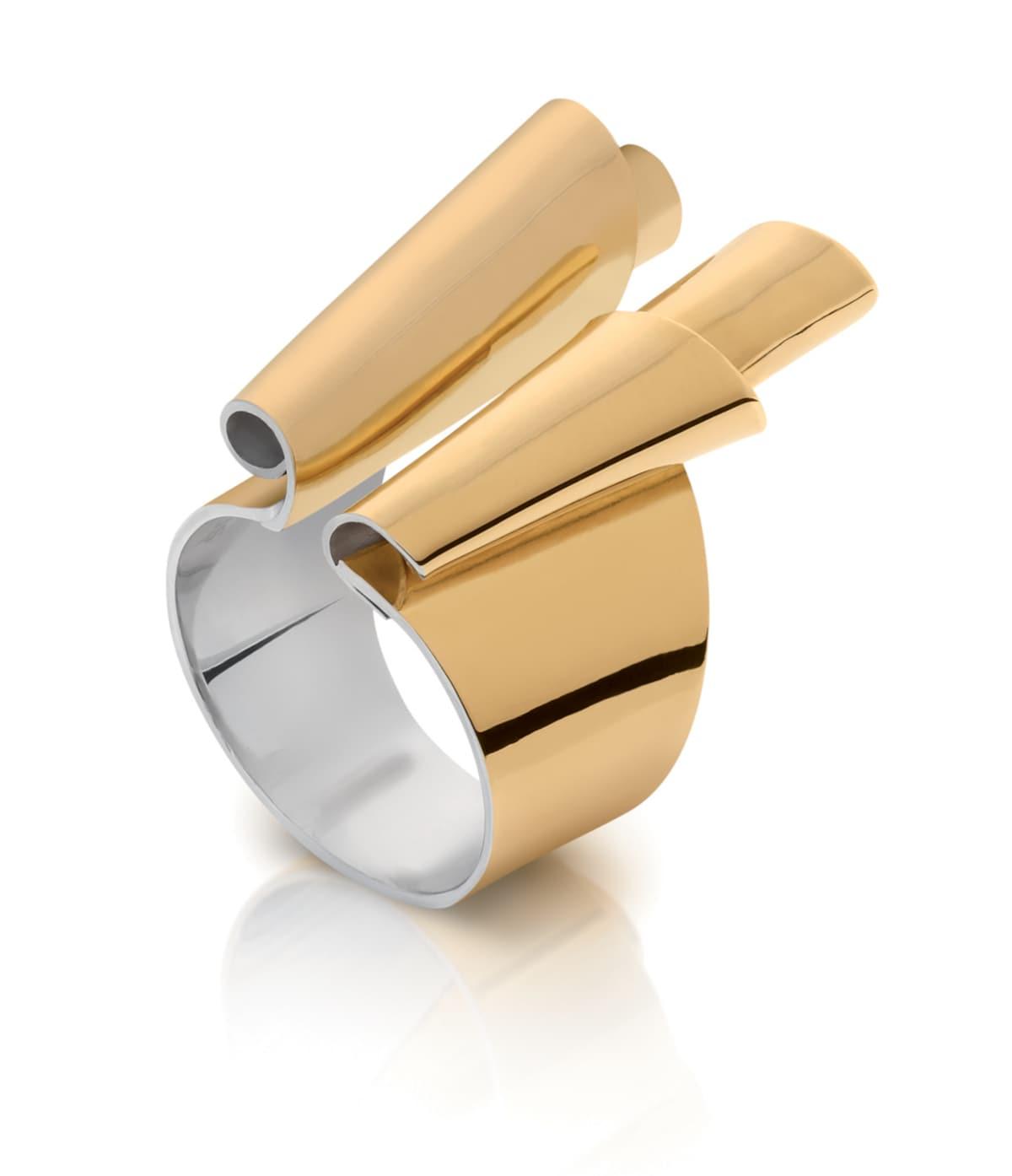 Gold and Silver Rita Ring