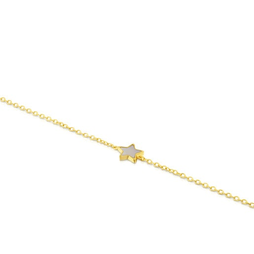Pulsera XXS estrella de Oro y Nacar