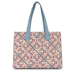 84d084496461 Beige-blue Mossaic Frames Shopping bag