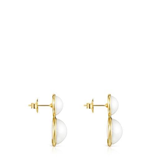 Aros Avalon de Oro y Perlas