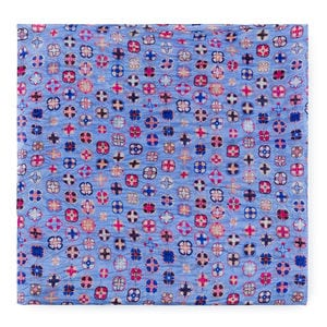 Foulard Mossaic en color multi-azul