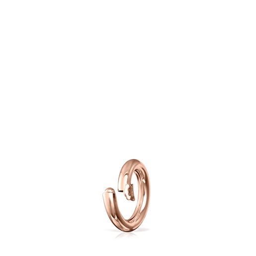 Small Rose Vermeil Silver Hold Ring