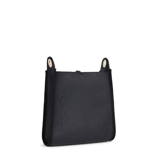 Small navy blue Leather Leissa Shoulder bag