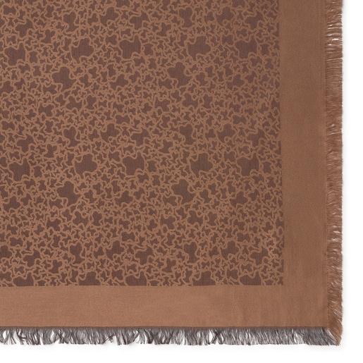 Pañuelo Kaos Mini de jacquard marrón