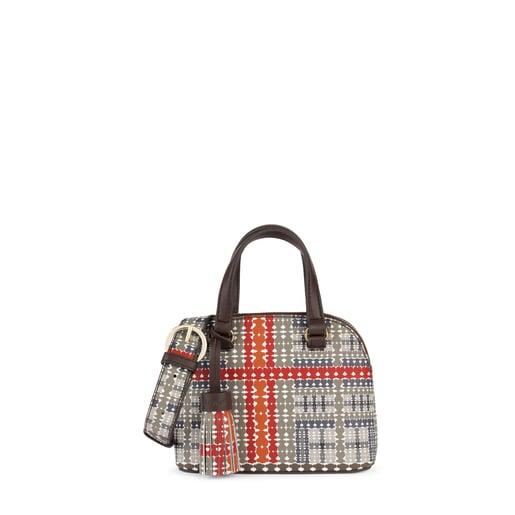 Mini stone-red Alicya Bowling bag