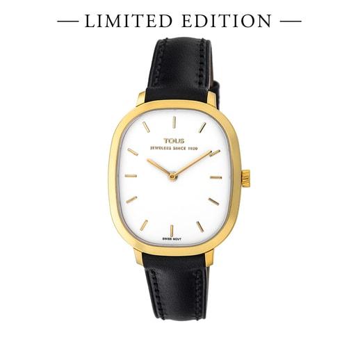 Reloj Heritage de Oro con correa de piel negra - Edición limitada