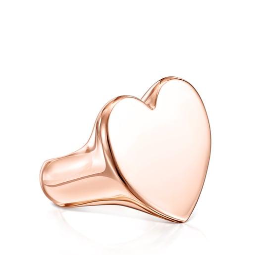 Anillo Sweet Dolls XL corazón de Plata Vermeil rosa