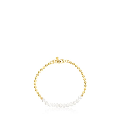 Silver Vermeil Gloss Bracelet with Pearls