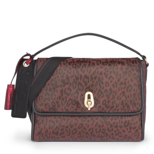 Medium leather terracotta Bridgy Exotic crossbody bag