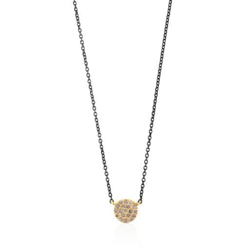 Collar de plata y oro con diamantes Gem Power