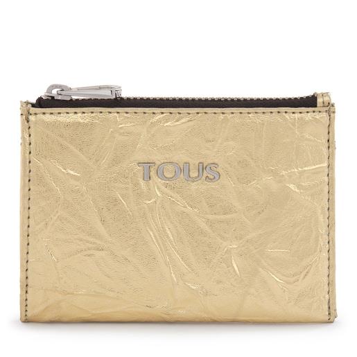 Metallic Gold-Colored Dorp Change Purse-Cardholder