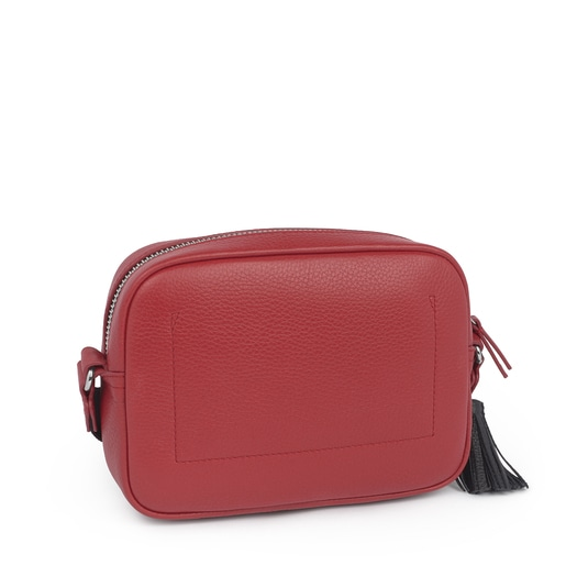 Small red Leather Leissa Crossbody bag