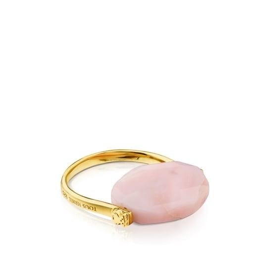 Ring Terra aus Vermeil-Silber mit Opal