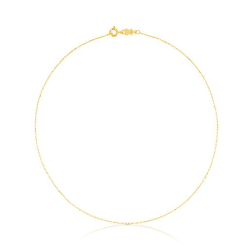 40cm Gold TOUS Chain Choker with small rings.