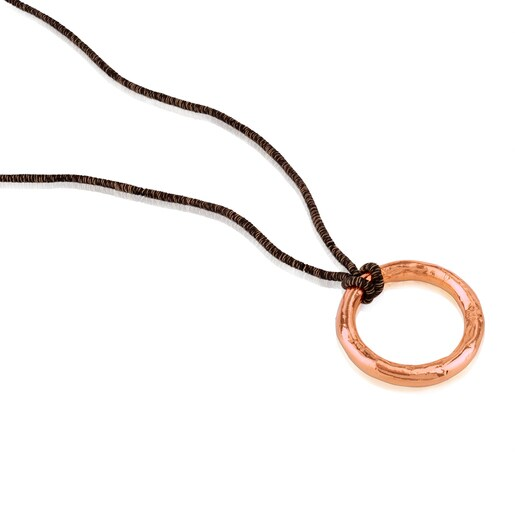 Rose Vermeil Silver Duna Tube Necklace