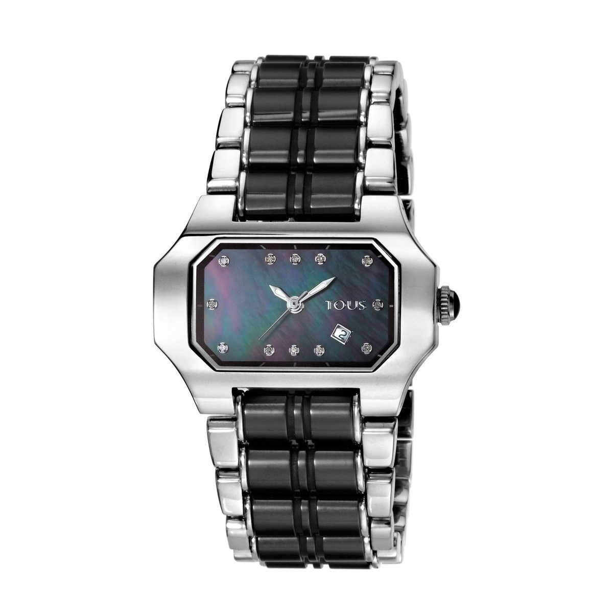 Steel Bel-air Watch with Diamonds