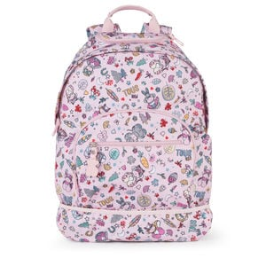 Medium pink Nylon School Playground Backpack with wheels