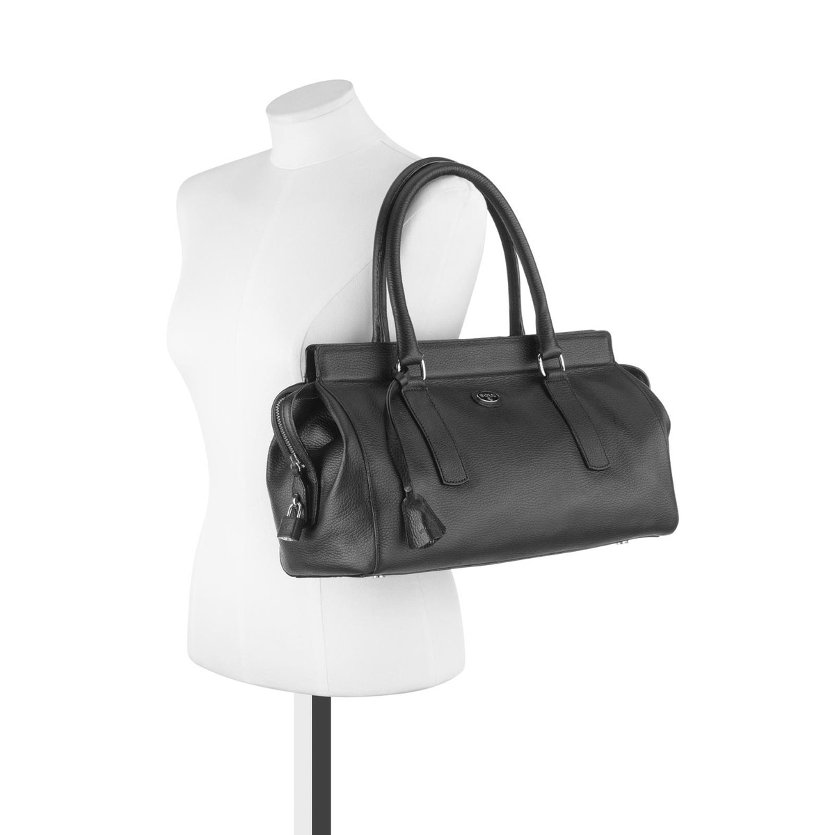 Black colored Leather Gentle City bag