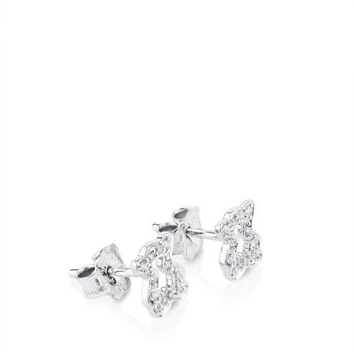 Gold Kaos Earrings with Diamond