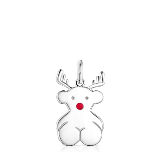 Silver Xmas Collection reindeer Pendant