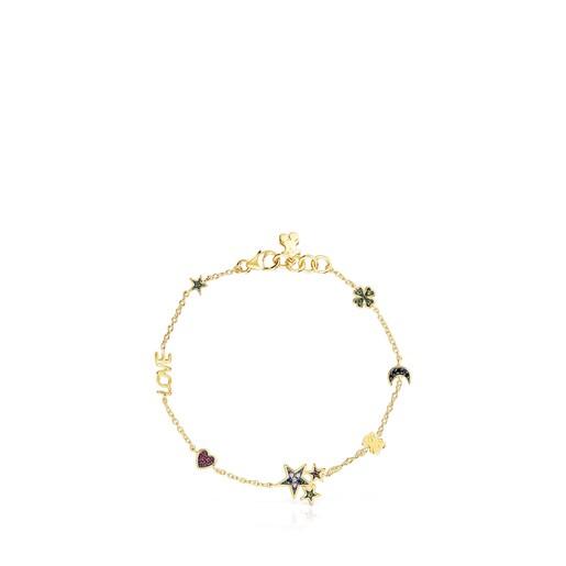 Bracelet Teddy Bear en Argent vermeil et Pierres précieuses