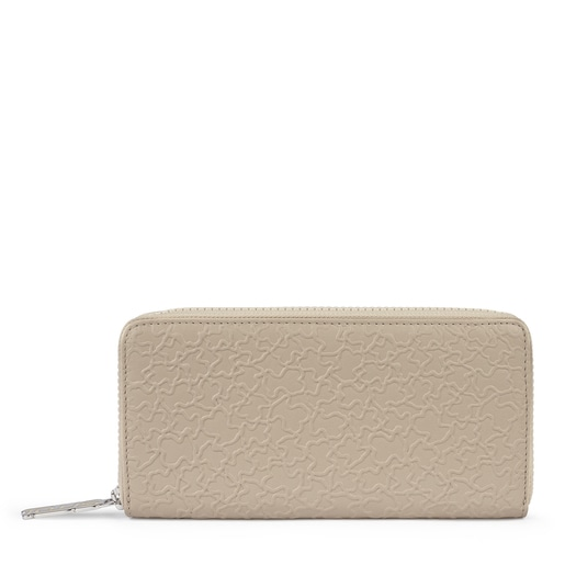 Medium beige leather Sira wallet
