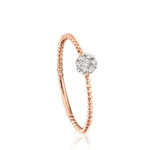 Anillo TOUS Brillants de Oro rosa con Diamantes