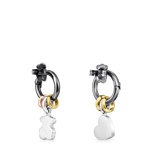 Silver, Silver Vermeil, Rose Silver Vermeil and Dark Silver Hold Earrings