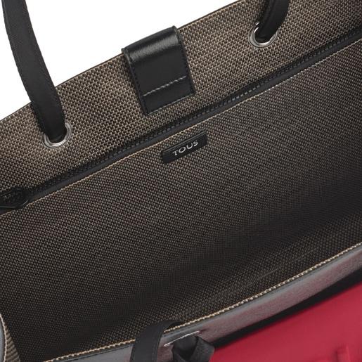 Μεγάλη Μαύρη Μεταλλική Τσάντα για Ψώνια Amaya