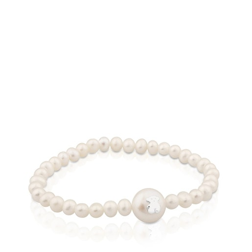 Silver TOUS Sweet Dolls Bracelet with pearls