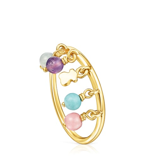 Silver Vermeil Cool Joy Ring with Gemstones