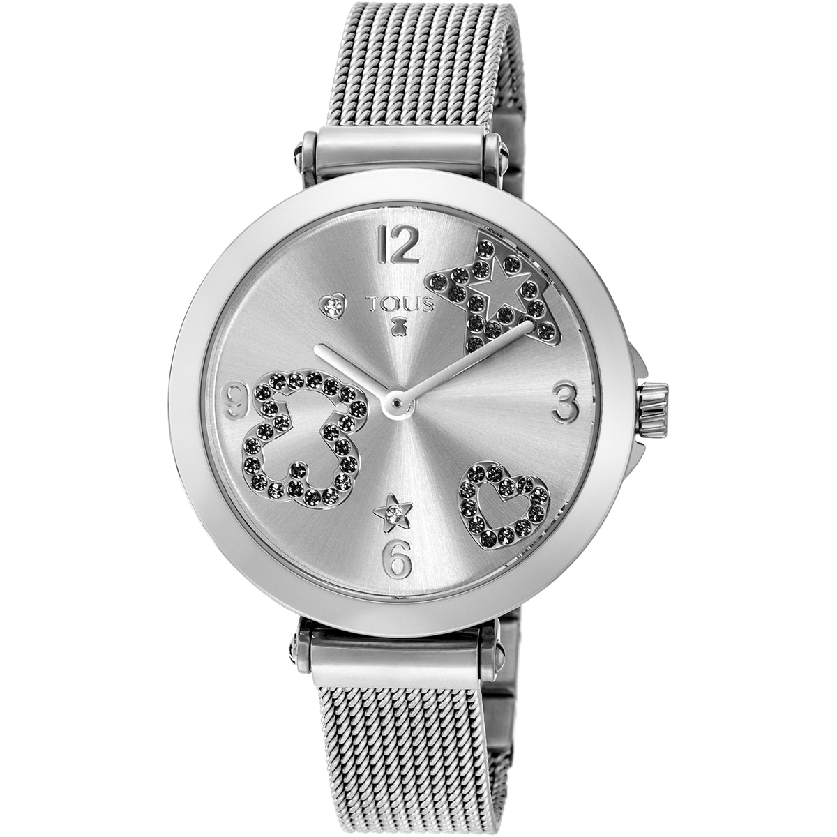 Steel Icon Mesh Watch with spinels