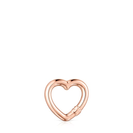 Small Hold heart Ring in Rose Vermeil