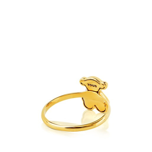 Gold Flora Ring with Diamond