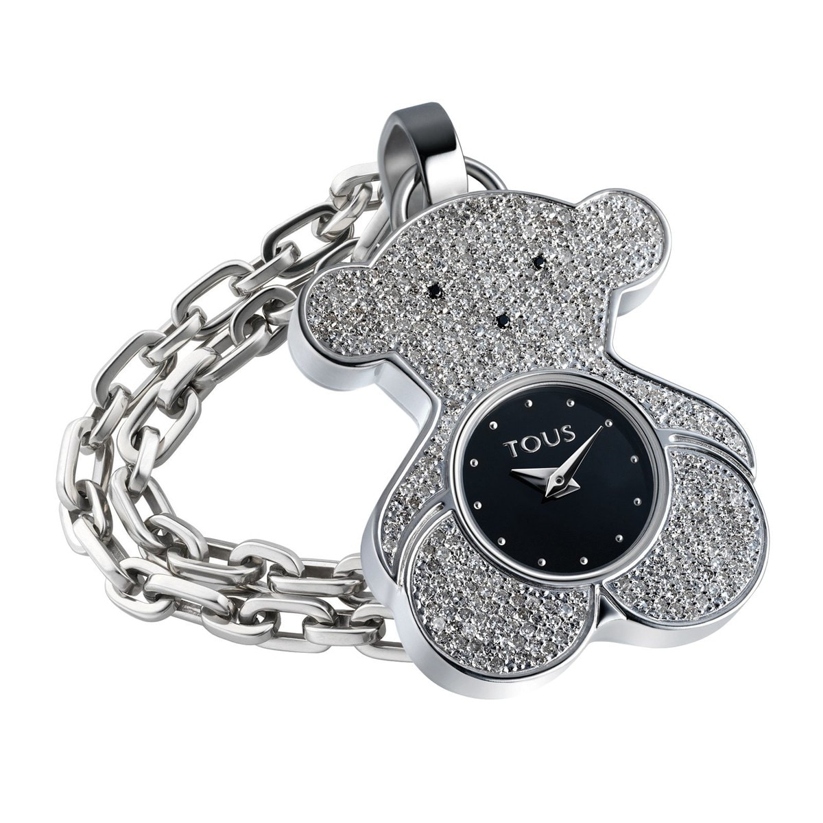 Steel Tousy Watch with Diamonds