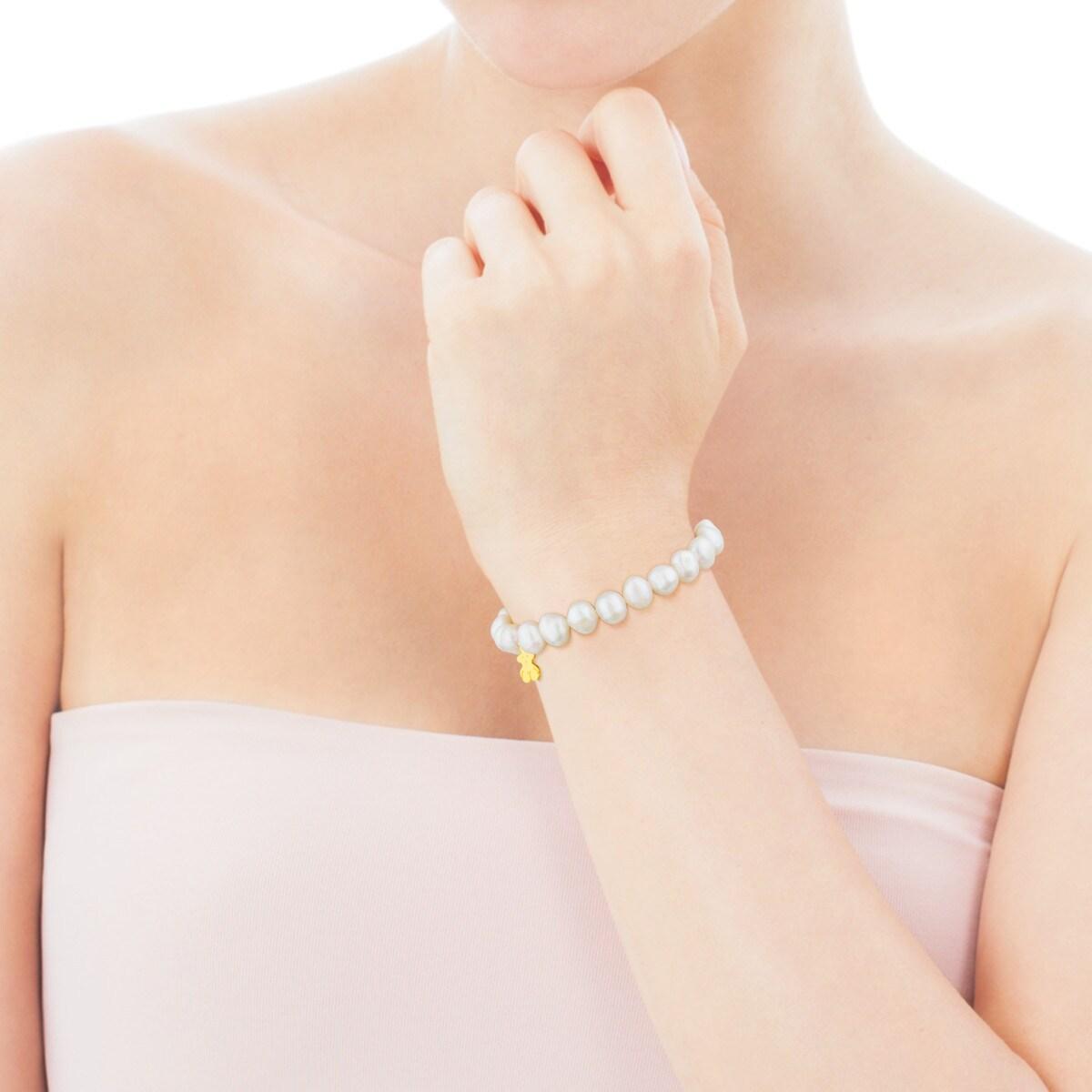 Braçalet TOUS Pearls de Plata Vermeil