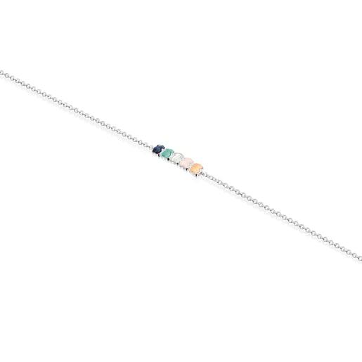 Βραχιόλι Mini Color από Ασήμι με Πολύτιμους λίθους