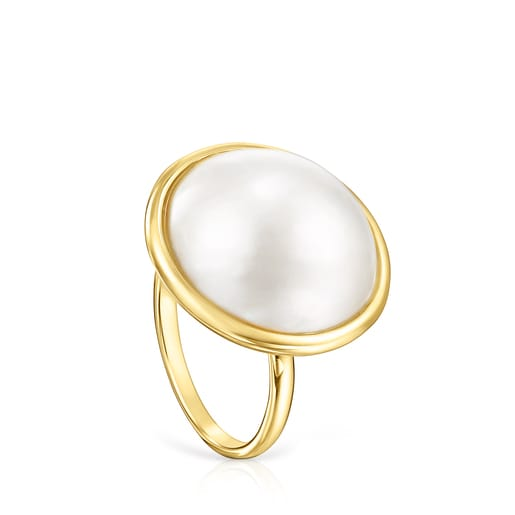 Gold and Pearl Avalon Ring