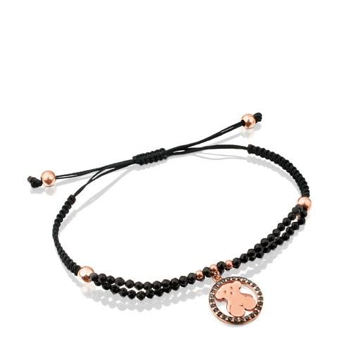 Bracelet Camille en Vermeil avec Spinelles et Onyx.