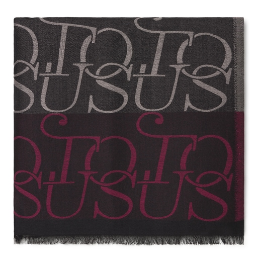 Fuchsia and black jacquard TOUS Spinel Foulard