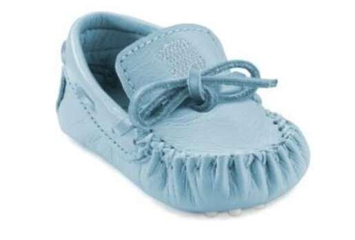 Mocasín de bebé Crazy Azul Celeste