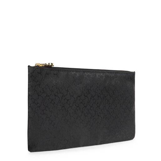 Large black Nylon Clasica Toiletry bag