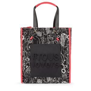 78fbd8b1 Shopping grande Amaya lana negro-coral