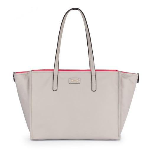 Taupe-fuchsia Nylon Doromy Shopping bag